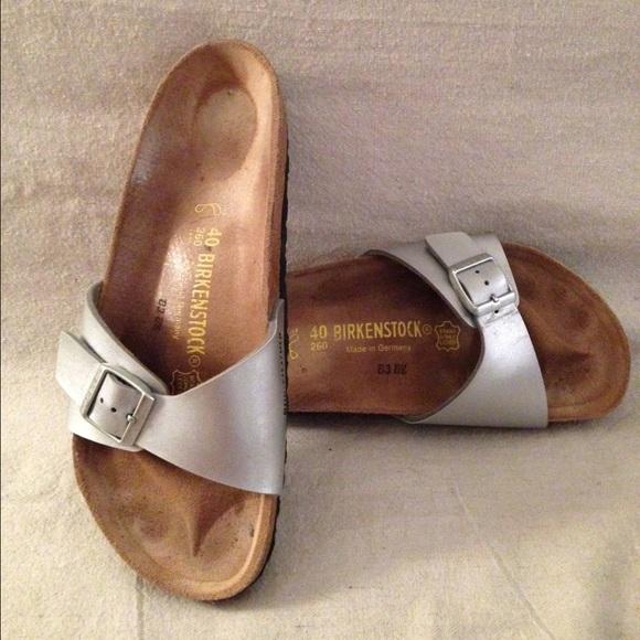 73 off birkenstock shoes birkenstock madrid silver. Black Bedroom Furniture Sets. Home Design Ideas