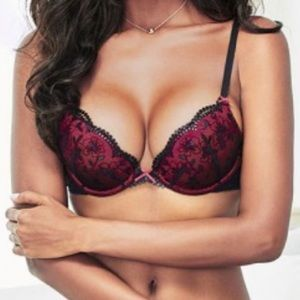 Other - Adore Me 34C push up Bra NEW red pink