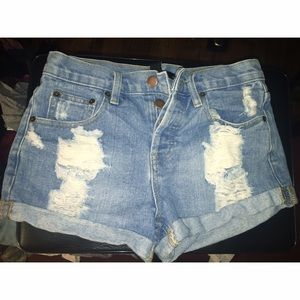 Forever21 high waisted jean shorts