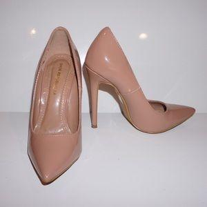 Shoes - Nude Patent Pumps