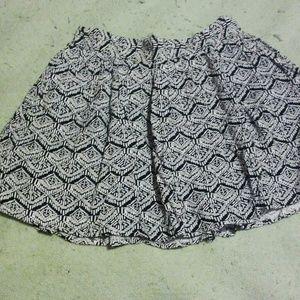Forever 21 print flowy skirt