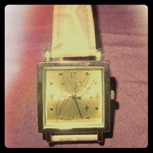 Tinkerbell Watch with pink leather band