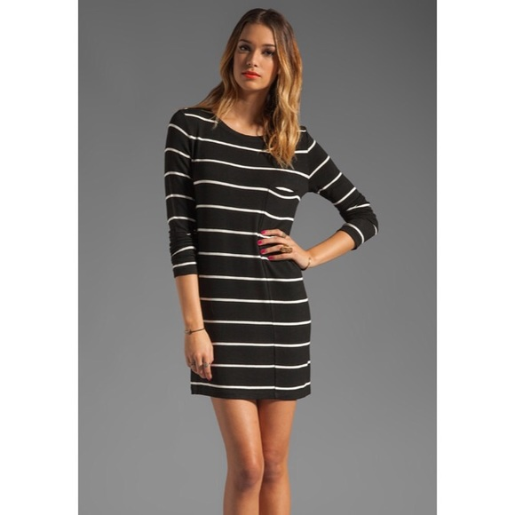 192255acd3dd BCBGMaxAzria Dresses   Skirts - BCBGMaxAzria Long Sleeve Striped Shirt Dress