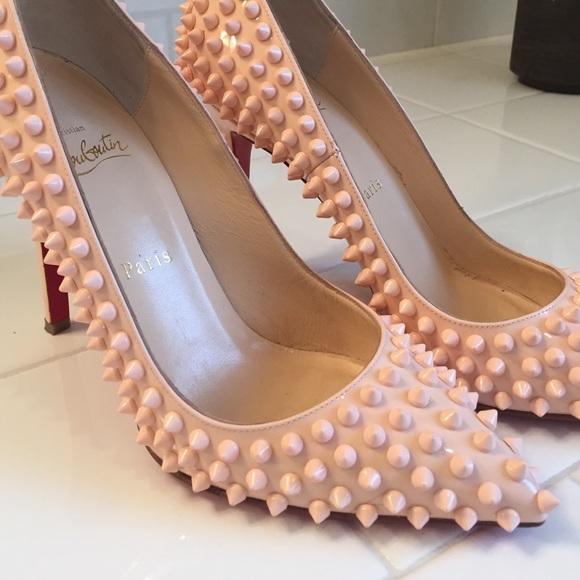 pink studded louboutins