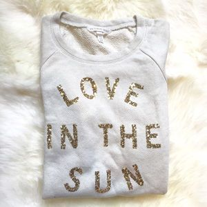 Victoria's Secret Tops - Victoria's Secret Love In The Sun Sequin Popover