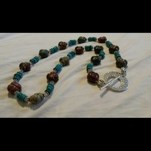 Handmade Genuine Turquoise and Jasper stones