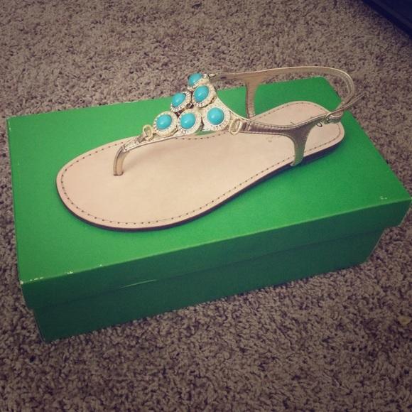 ed28ff8816d Lilly Pulitzer beach club sandal NIB sz 7 blue