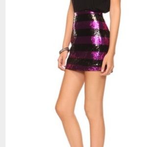 purple forever 21 sequin skirt on Poshmark