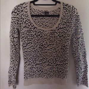 Sparkle and Fade Urban Outfitters Leopard Sweater