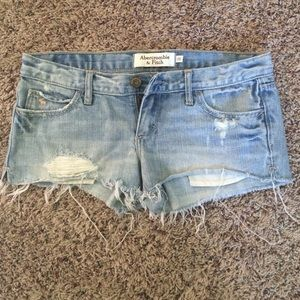 Abercrombie and Fitch destroyed denim shorts