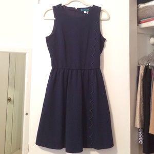 Pim + Larkin Navy Dress with Scallop Detail