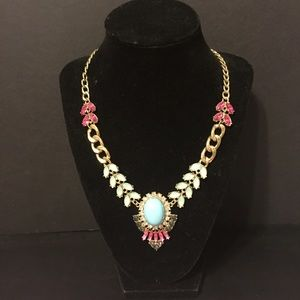 Pink/Blue Statement Necklace