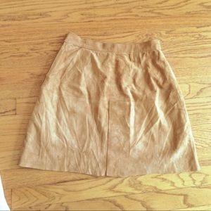 Vintage 100% suede high rise skirt.