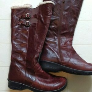 Keen mahogany leather boots womens