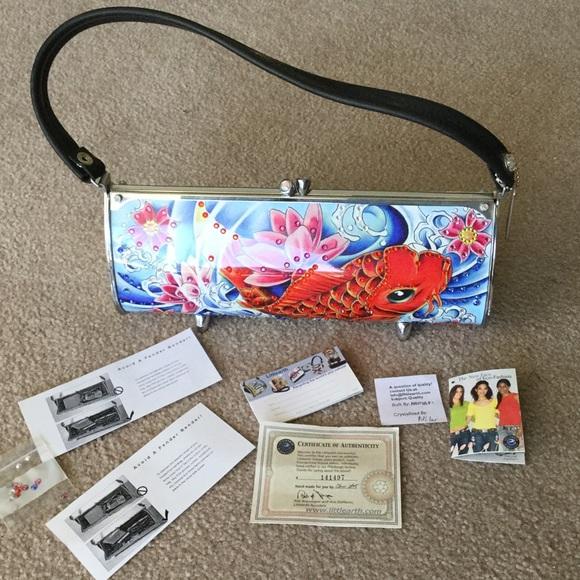 53 off little earth handbags little earth koi fish for Koi fish purse