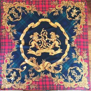 c17e93f614 Ralph Lauren Lion's Crest Square Silk Scarf