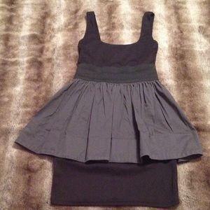 Aqua Black and Gray Dress