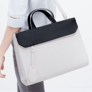 Large leather bag.