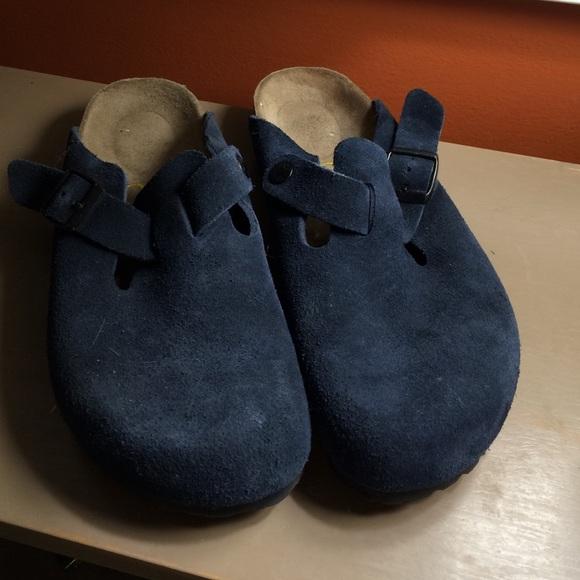 478d824a6fd6 Birkenstock Shoes - Birkenstock Navy Suede Slide On Mules