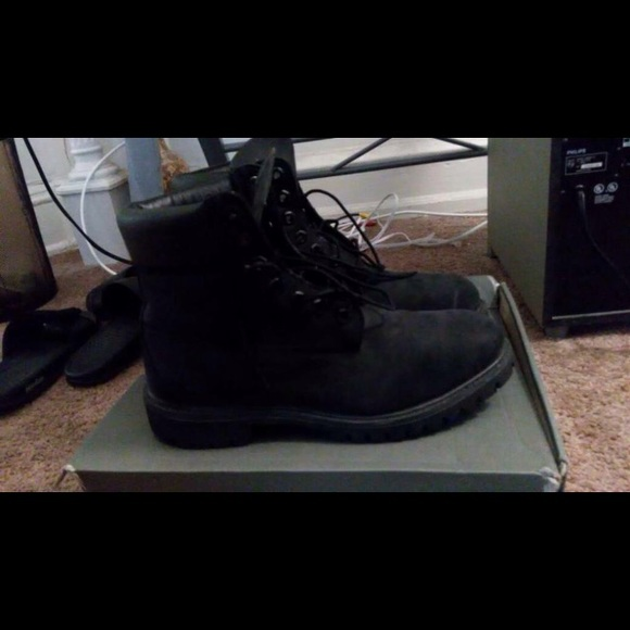 wholesale outlet where to buy free shipping Mens Black Suede Timberland boots