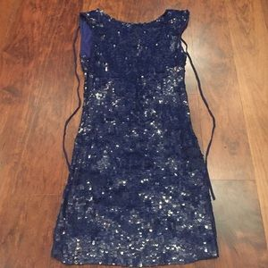 Alice and Oliva sequined blue dress