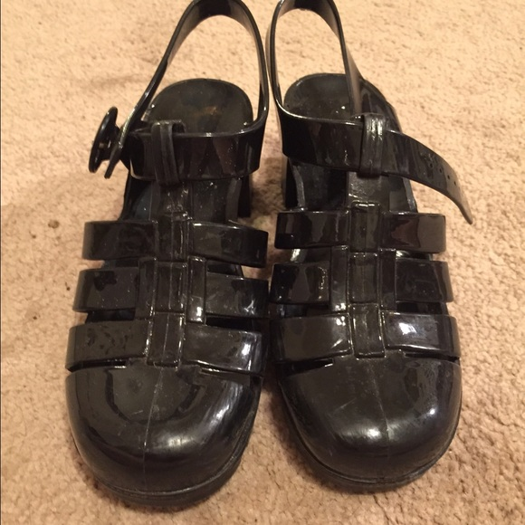 1bcc85ec7d97 American Apparel Shoes - American Apparel black juju jelly sandals
