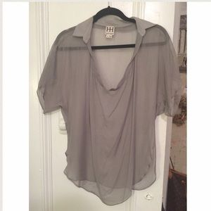 Haute Hippie Tops - Haute Hippie Scoop Neck Chiffon Top sz Small