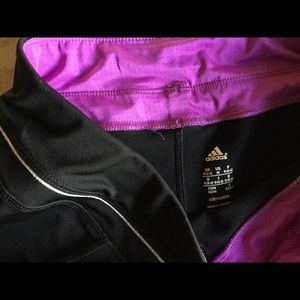 5237134b7563 Adidas Pants - Adidas black purple stripe pant. M. Climalite NWOT