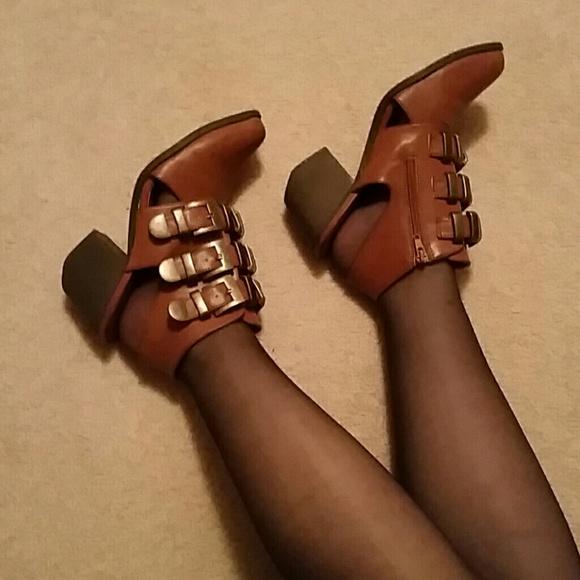 sacred heart Shoes - Like New Buckle Cutout Booties