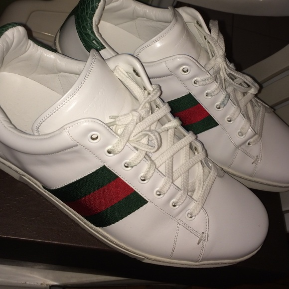 Used White Leather Gucci Low Cuts