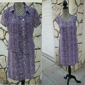 Hillard & Hanson Dresses & Skirts - Purple animal print