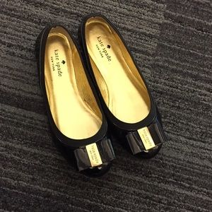 d6f7fa89d0 kate spade Shoes - 🎉SALE🎉 Kate Spade Black Trophy Bow Leather Flat