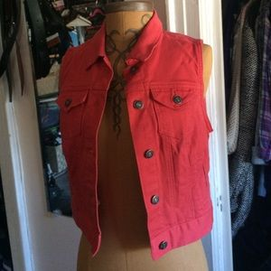Forever 21 Other - Forever 21 Red Denim Vest