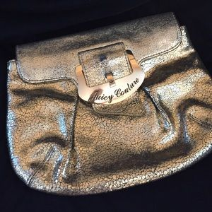 Juicy couture gold clutch