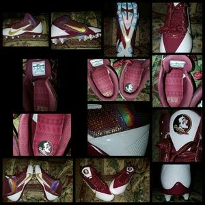 Nike florida state seminoles football cleats sz14