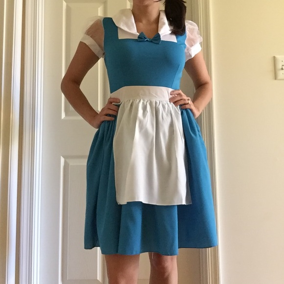 69% off Disney Other - Belle Blue Dress Costume Adult Small from ...