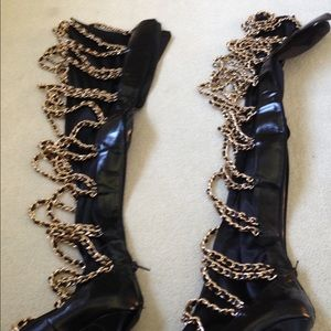 Jeffrey Campbell soft chain boots like new!