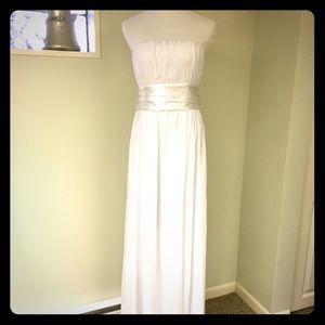 White long dress with sash