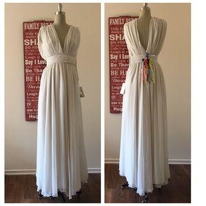 MSGM Dresses & Skirts - MSGM Techno Georgette Long Dress
