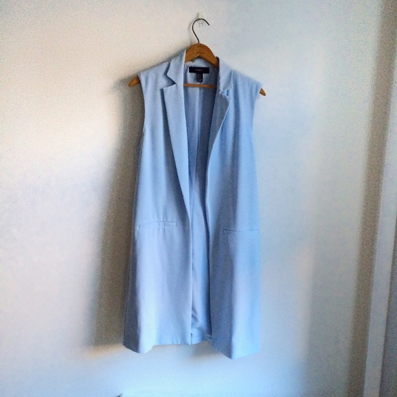Forever 21 Jackets & Blazers - Baby blue duster coat/long vest