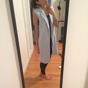 Forever 21 Jackets & Coats - Baby blue duster coat/long vest