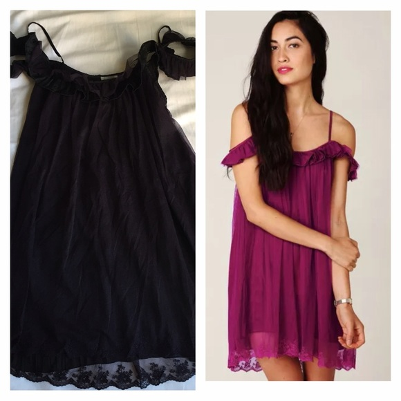 5fea52735492 Free People Dresses   Skirts - Free people cold shoulder tulle lace dress