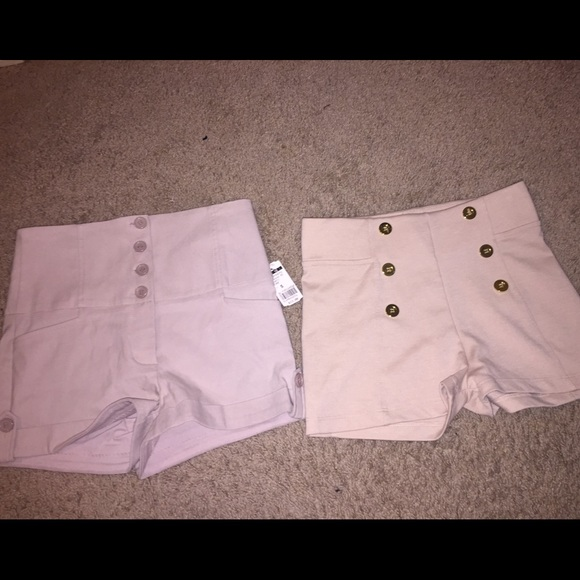 63% off Pants - 2 Brand New tan high waisted shorts from Torie's ...