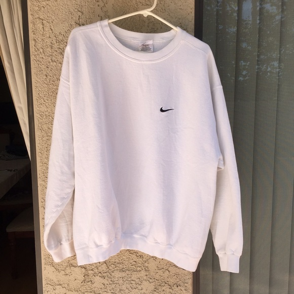 56% off Nike Sweaters - White Nike Sweatshirt from ! sri's closet ...