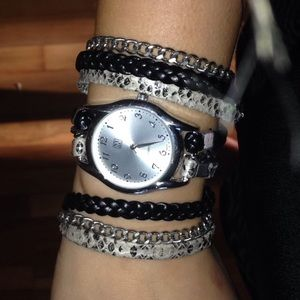 New York and company double wrap watch