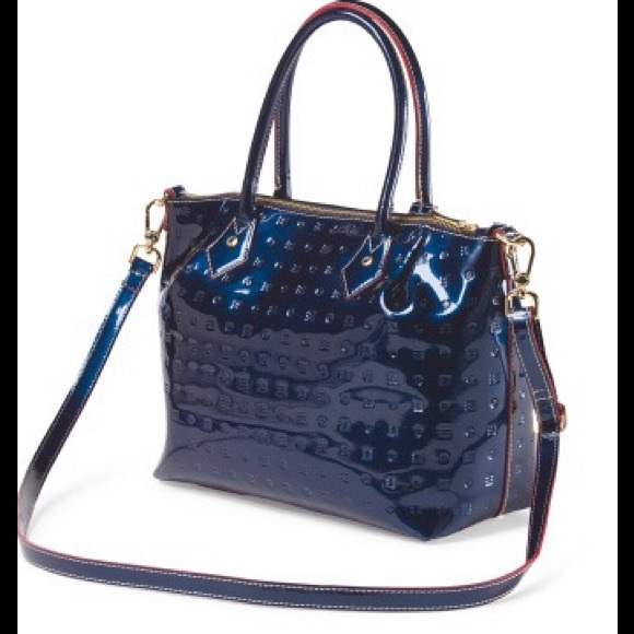 bd44f4645a15 Arcadia Blue Patent Leather Bag 🇮🇹
