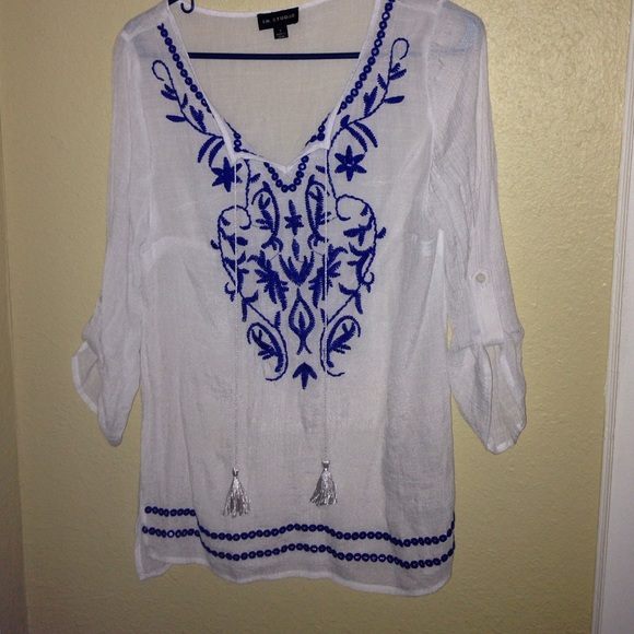 Free People Tops - Long white blouse