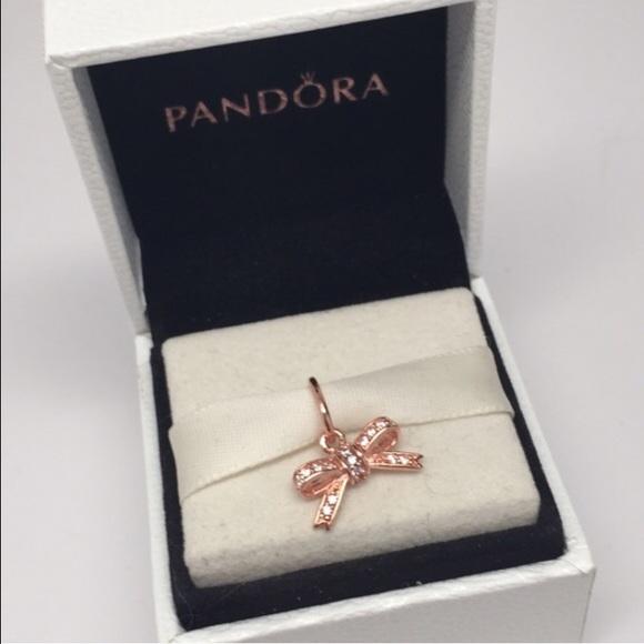 pandora rose bow charm