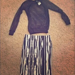 Skirt striped