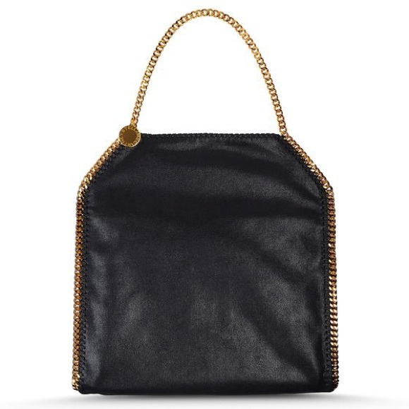 7fe9745bcc74 Black   Gold Stella Falabella Shaggy Deer Big Tote.  M 56033a5344adba1fed011473